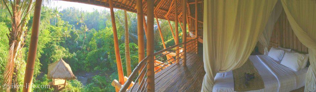 green village bali 地下1Fのマスターベッドルームからの眺め
